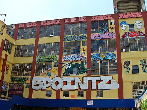 Figure 1.  5Pointz Graffiti Center. Queens, NYC. December, 2011. (Photo Credit: Caitlin Bruce)